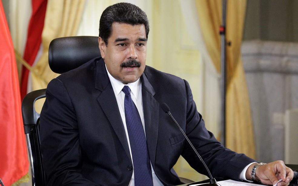 O presidente venezuelano Nicolás Maduro durante cerimônia no Palácio Miraflores, em Caracas, no dia 5 de dezembro (Foto: Reuters/Marco Bello)
