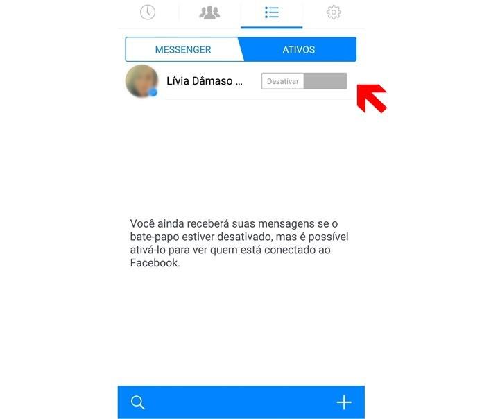 Configurando o status inativo no Facebook Messenger (Foto: Reprodução/Lívia Dâmaso)