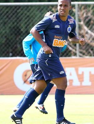 Atacante Borges, treio do Cruzeiro (Foto: Denilton Dias / Vipcomm)