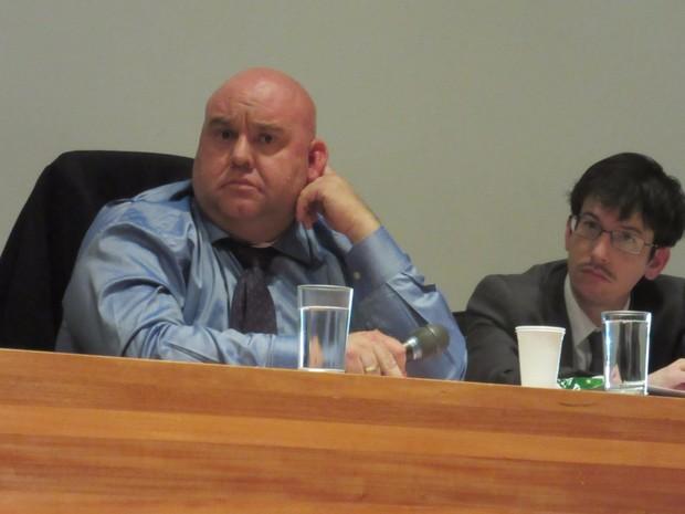 Subscretário Marcello Nóbrega em depoimento na CPI da Saúde desta sexta-feira (19) (Foto: Alexandre Bastos/G1)