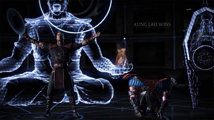 O clássico Fatality de Kung Lao fica muito mais impactante com os gráficos atuais (Foto: Reprodução/YouTube)