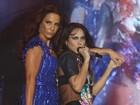 Alinne Rosa recebe Ivete Sangalo  em abertura de temporada de shows