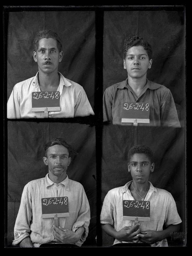 Exposição revela as primeiras fotos 3x4 de trabalhadores brasileiros (Foto: Assis Horta)