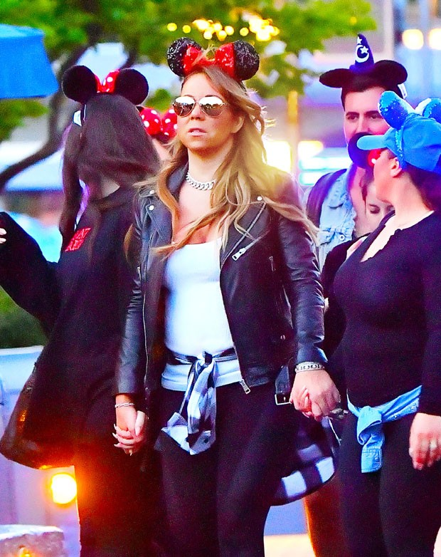 Mariah Carey e amigos (Foto: Grosby Group)