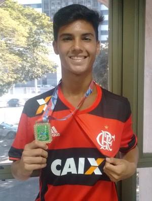 Yuri, meia do Flamengo e da Seleção Brasileira Sub-15 (Foto: Wagner Chaló/GloboEsporte.com)