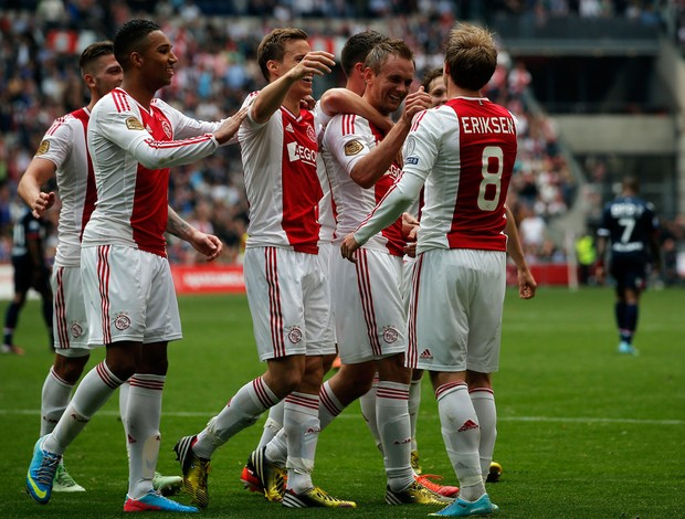 Siem De Jong, Christian Eriksen gol Ajax (Foto: Getty Images)