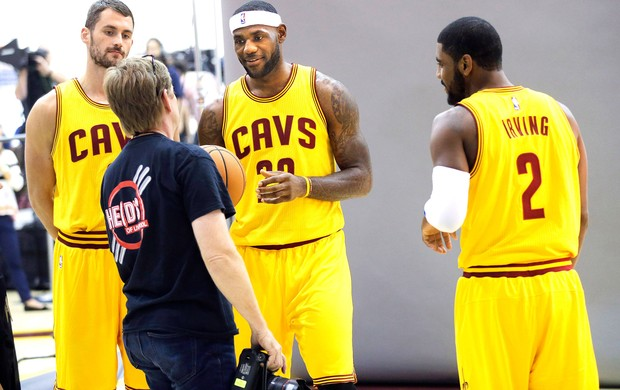 LeBron James, Kyrie Irving e Kevin Love, Cavaliers (Foto: Getty Images)