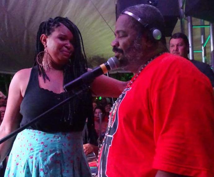 Gau Silva canta 'Ainda é Tempo Pra Ser Feliz' com Arlindo Cruz (Foto: Arquivo pessoal)