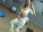 Tatiele Polyana exibe corpo magrinho em foto: 'Frio é psicológico'