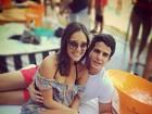 Enzo Celulari se declara à namorada: Morrendo de saudades... Te amo'