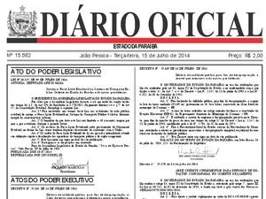 Passe Livre foi republicado no Diário Oficial da Paraíba (Foto: Reprodução / Diário Oficial da Paraíba)