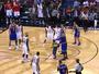 Menino invade quadra e surpreende Carmelo com abraço em jogo da NBA