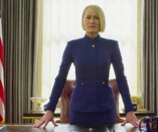 Robin Wright no teaser da nova temporada de 'House of Cards'   Reprodução