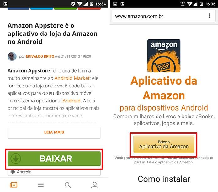 Amazon Appstore deve ser baixada no TechTudo Downloads para que usuário economize (Foto: Reprodução/Elson de Souza)