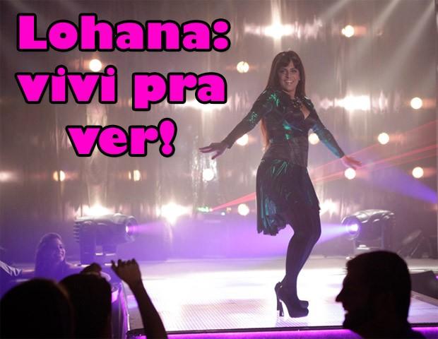 Lohana dança 'Conga Conga Conga' na boate (Foto: Salve Jorge / TV Globo)