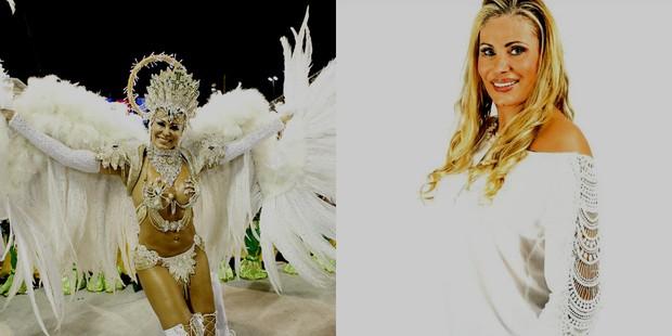 Angela Bismarchi no carnaval de 2015 e hoje (Foto: Marcos Serra Lima/ EGO | Reprodução/Instagram)