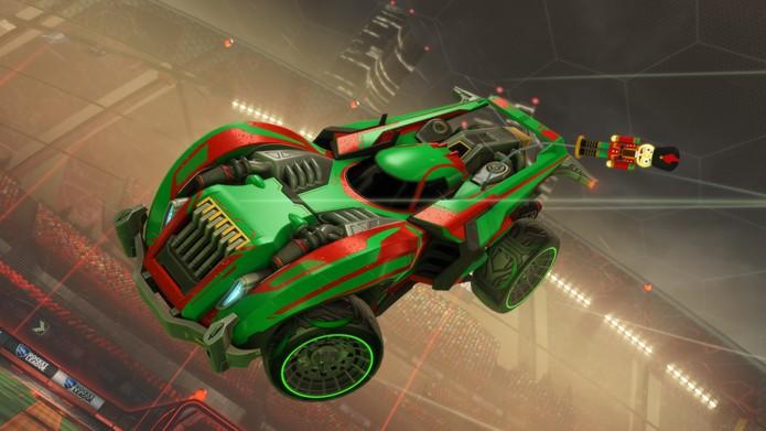 Carros natalinos em Rocket League (Foto: Divulgação/Phisionix)