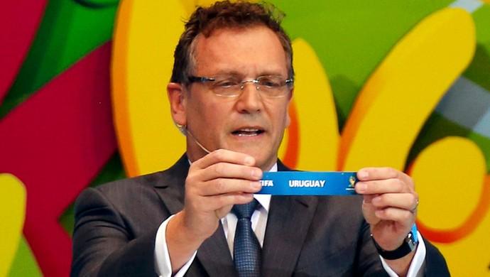 Valcke sorteio Copa do Mundo Uruguai (Foto: Reuters)