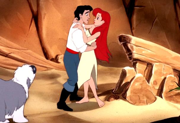O encontro entre Ariel e o príncipe Eric (Foto: Reprodução)