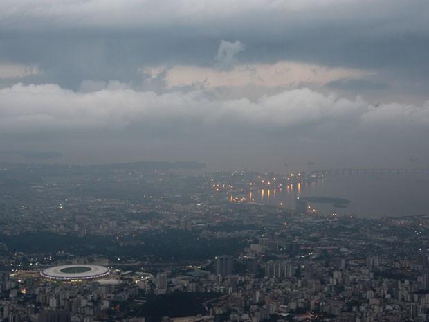Céu fica nublado no Rio neste sábado (15) (Foto: Marcos Estrella / TV Globo)