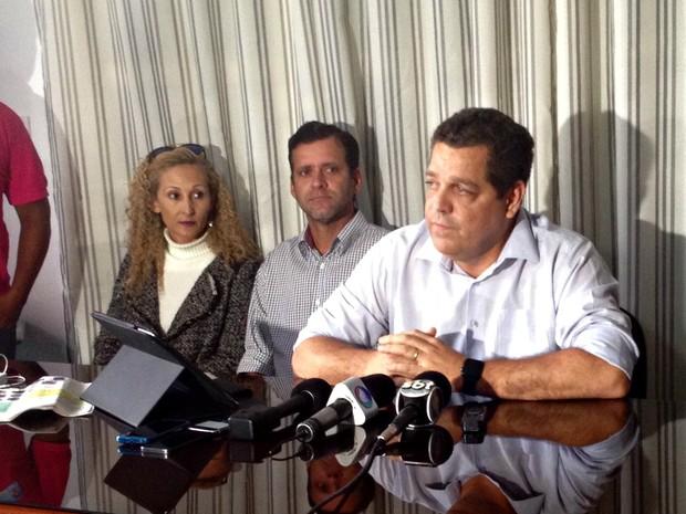 Major Rocha deu coletiva sobre a prisão da asserroa  (Foto: Iryá Rodrigues/G1)