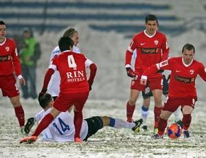 Dinamo Bucaresti, adversário do Atlético-PR (Foto: Divulgação/Site oficial do Dinamo Bucaresti)