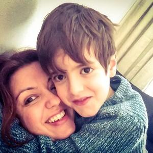 Andrea e o filho, Theo (Foto: arquivo pessoal)