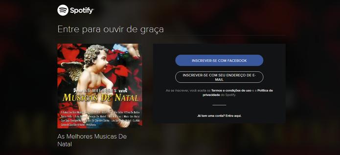 Serviços de streaming permitem ouvir e criar playlists de músicas natalinas (Reprodução/Caio Bersot)
