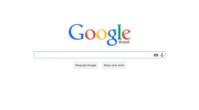 Página inicial de buscas no Google.com.br (Foto: Reprodução/Google)