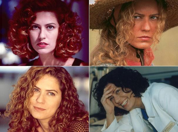 Renascer (1993), O Rei do Gado (1996), Patria Minha (1994) e no seriado Mulher (1998) (Foto: CEDOC/ TV Globo)