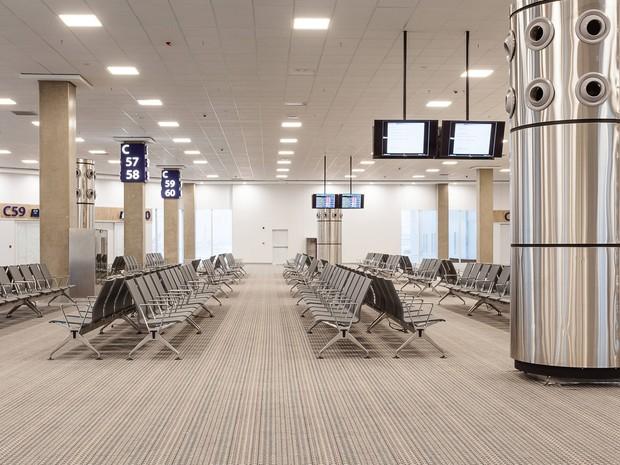 Interior do novo terminal 2 do Aeroporto do Galeão (Foto: Divulgação/RioGaleão)