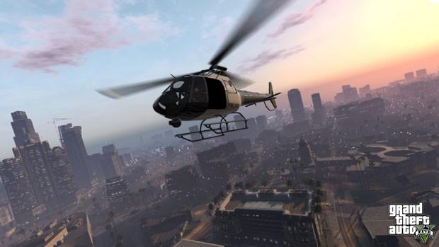 Nova imagem de 'GTA V' mostra cena aérea da cidade de Los Santos , onde a história do novo game, que ainda não tem data de lançamento, se desenrolará (Foto: Divulgação)
