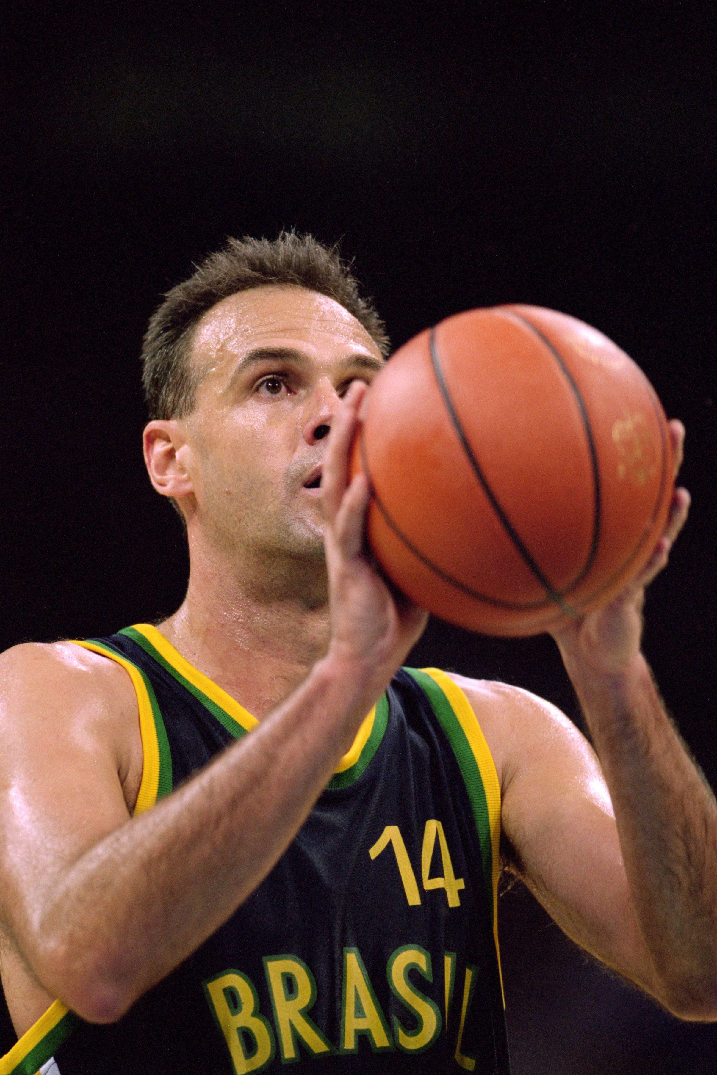 Oscar Schmidt durante a Olimpíada de Atlanta, em 1996 (Foto: Getty Images/Doug Pensinger)