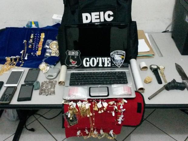 Objetos foram presos nesta sexta-feira (15) em Gurupi (Foto: Divulgação/SSP-TO)
