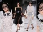 Giambattista Valli apresenta coleção romântica de alta-costura na semana de moda de Paris