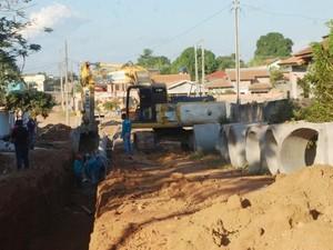 Projeto de drenagem e asfaltamento pretende evitar alagamentos (Foto: Assessoria DER/Divulgação)