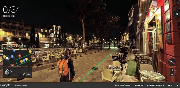 O usuário pode passear livremente através de fotos em 360º (Reprodução/Google Street View)