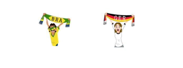 Brasil x Argentina: quem será que ganha na disputa de torcida? (Foto: Reprodução/Carol Danelli)