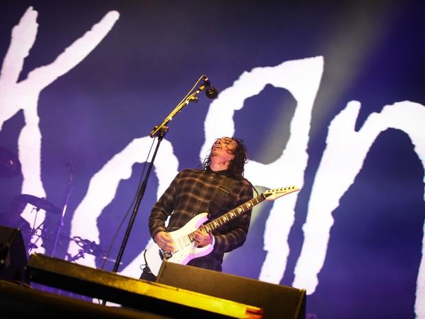 Korn é a última atração do Palco Sunset neste sábado (19), segundo dia de Rock in Rio (Foto: Fabio Tito/G1)