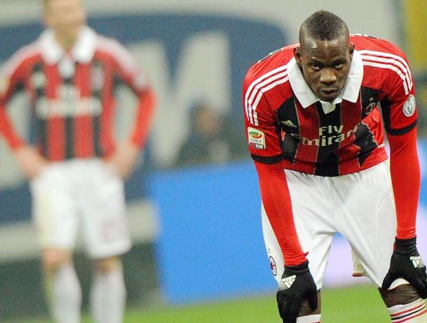 Balotelli, Inter de Milão x Milan (Foto: EFE)