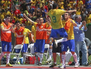 Brasil x Argentina Futsal Mané Garrincha (Foto: Andre Borges / GDF)
