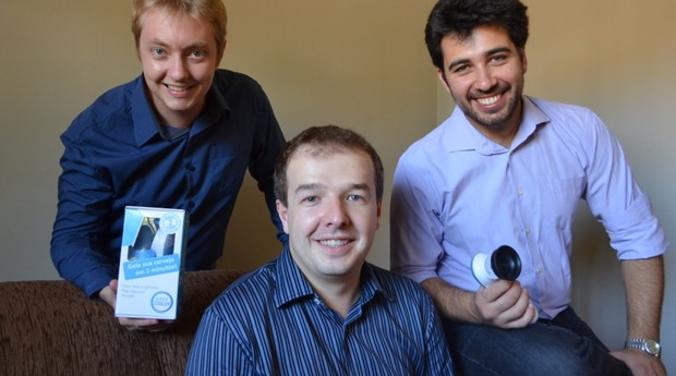 Gustavo Moraes, Ricardo Gazzola e Ricardo Schiavoni, da Tridel (Foto: Divulgação)