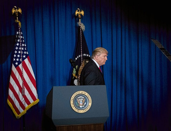 Donald Trump,presidente dos Estados Unidos (Foto:  Doug Mills/The New York Times)