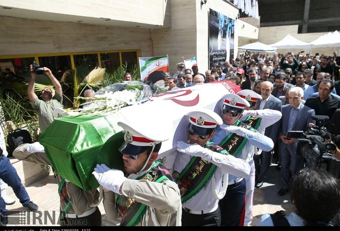 enterro ciclista  Bahman Golbarnezhad (Foto: Divulgação / Comitê Paralímpico do Irã)