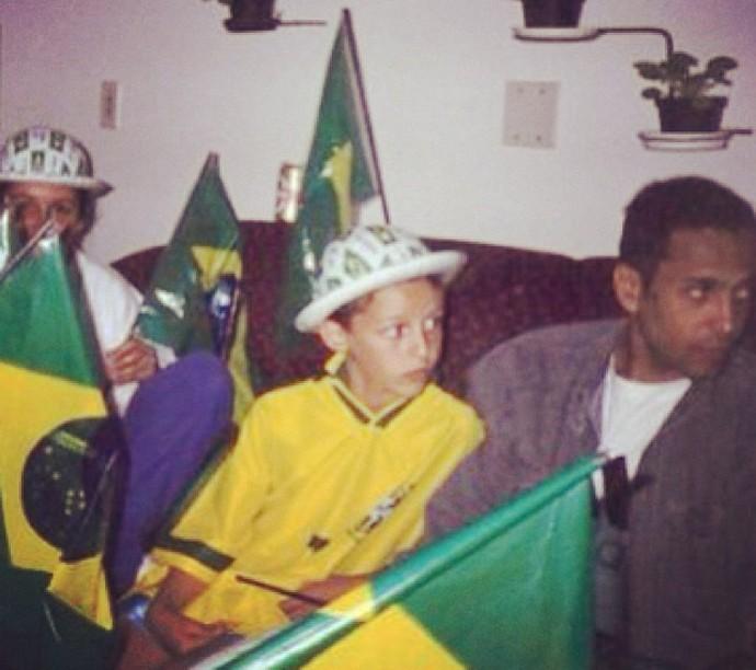 David Luiz criança (Foto: Reprodução / Instagram)