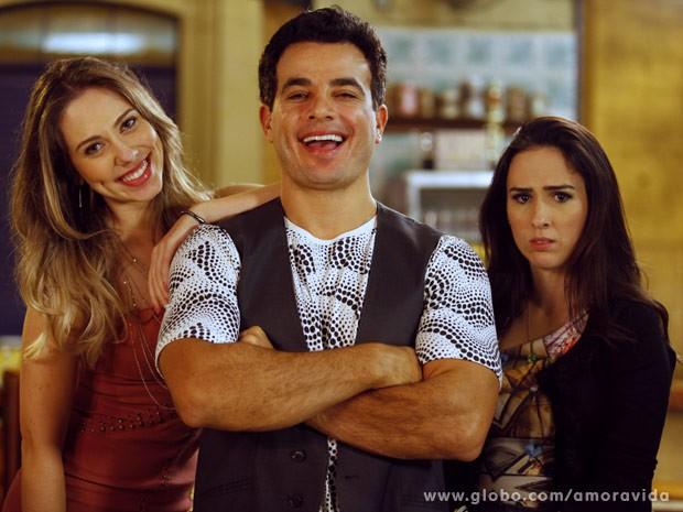 Carol Rainato, Anderson Di Rizzi e Tatá Werneck (Foto: Amor à Vida / TV Globo)