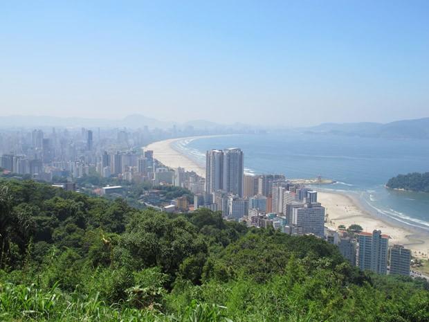 Vista aérea da cidade de Santos, SP (Foto: Mariane Rossi/G1)