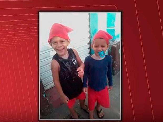 Crianças mortas em incêndio em Cachoeira, na Bahia (Foto: Reprodução/ TV Bahia)