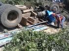 Motorista morre após caminhão  bater em árvore e capotar no RS