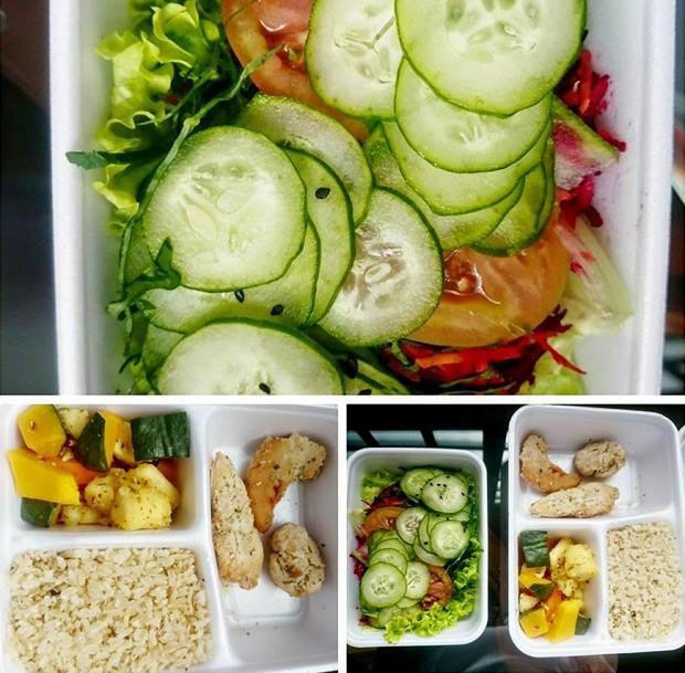 Salada, legumes, arroz integral e carne magra passaram a fazer parte do cardápio de Isabela (Foto: Isabela Innocenti/Arquivo pessoal)